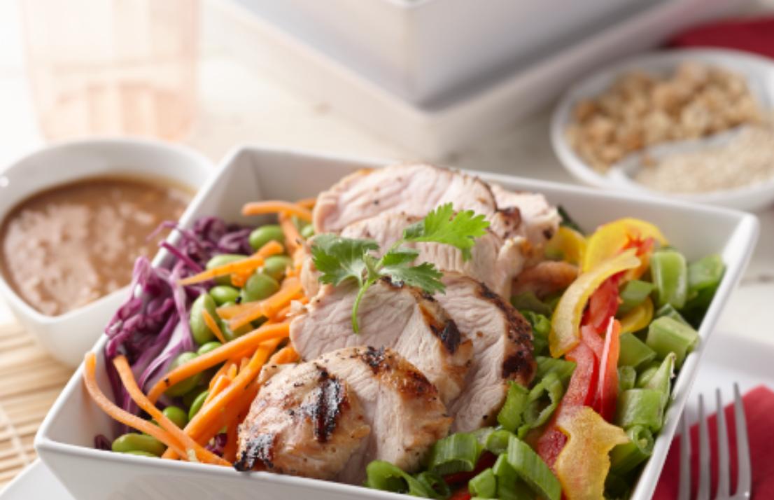 Grilled Turkey Chopped Thai Salad