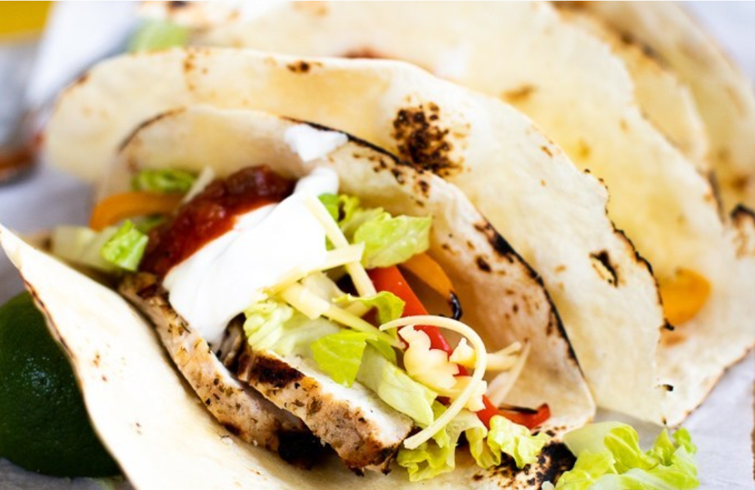 Grilled Turkey Tenderloin Fajitas
